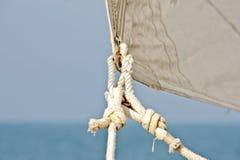 Genua Sail. Close up from a sailingboat Royalty Free Stock Image