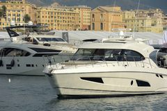 Genua 57th upplaga av den internationella båtmässan Fotografering för Bildbyråer