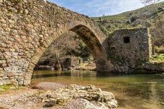 Genueńczyka most przy Pianą w Corsica obraz stock