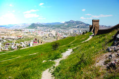 Genuese fortress in Sudak Stock Photos