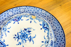 Genuine antique dinner plates Royalty Free Stock Photography