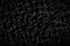 Genuine black leather background, pattern, texture. Royalty Free Stock Photography