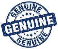 Genuine blue grunge round stamp Stock Photography
