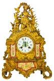 Genuine eighteenth century golden table clock Stock Images