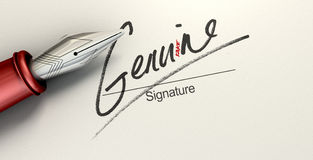 Genuine Fake Signature Royalty Free Stock Photos