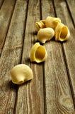 Genuine fresh pasta. Rustic still life with genuine homemade pasta Stock Images