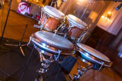 Genuine Goat Skin and Metal Djembe Percussion kit royalty free stock photography