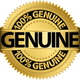 Genuine gold label,. Illustration Royalty Free Stock Image