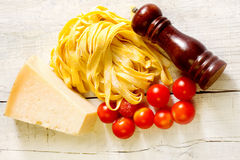 Genuine ingredients for typical italian recipe Stock Images