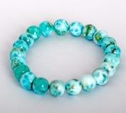 Genuine Larimar Round Beads Bracelet  on Royalty Free Stock Photo