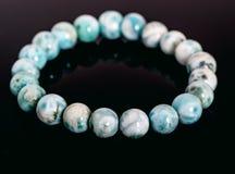 Genuine Larimar Round Beads Bracelet  on Royalty Free Stock Photography