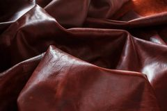 Genuine leather on the dark. Genuine leather with ruggedness on the dark Royalty Free Stock Photos