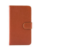 Genuine leather smartphone case cover Stock Images