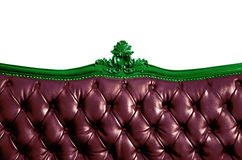 Genuine Leather Sofa Bed Stock Image