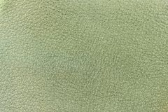 Genuine leather texture, light green color. Spring shopping, manufacturing concept. Modern background, backdrop. Substrate, composition with copy space Stock Photography