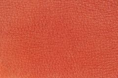 Genuine leather texture, red color. Shopping, manufacturing concept. Modern background, backdrop, substrate, composition. Genuine leather texture, bright red Stock Images