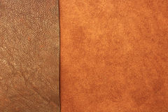 Different types of leather texture background Royalty Free Stock Image