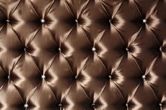 Genuine leather upholstery. (brown color Stock Photography