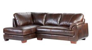 Genuine luxury leather sofa Stock Photo