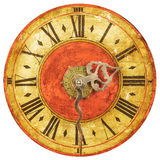 Genuine medieval clock face Royalty Free Stock Image