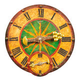 Genuine medieval clock face Royalty Free Stock Images