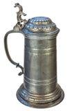 Genuine medieval tin beer jug Royalty Free Stock Image