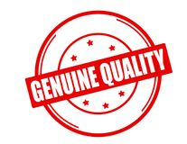 Genuine quality. Stamp with text genuine quality inside,  illustration Royalty Free Stock Photos