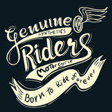 Genuine riders typographicfor t-shirt,tee design,vector illustra Stock Photo