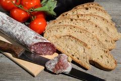 Genuine salami Stock Photography