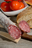 Genuine salami Royalty Free Stock Image