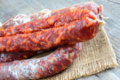Genuine salami Stock Image