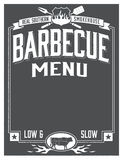 Genuine Southern Barbecue Menu Design Stock Photo