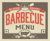 Genuine Southern Barbecue Menu Design Royalty Free Stock Image
