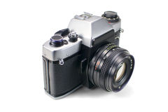 Genuine Soviet (USSR) SLR film camera. Stock Photo