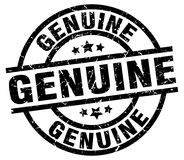 Genuine stamp. Genuine grunge stamp on white background Royalty Free Stock Photography