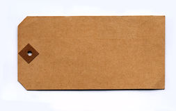 Genuine vintage parcel tag from the 1930s. Against a lightly textured paper background Royalty Free Stock Images