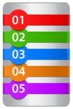 Genummerde ontwerpmalplaatjes Royalty-vrije Stock Afbeeldingen