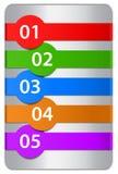 Genummerde ontwerpmalplaatjes Royalty-vrije Stock Foto's