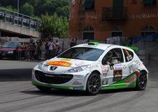 Genuy Italy-31st wiec Della Lanterna Czerwiec 6th 2015: Peugeot 207 samochód wyścigowy zdjęcia stock