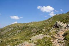 Geo足迹远足在Lesachtal克恩顿州奥地利的Wolayersee 图库摄影