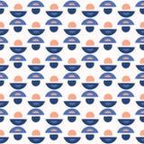 Geo abstrait Dot Vector Pattern Blue et blanc illustration libre de droits