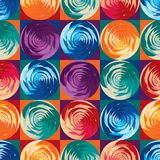 Geo circle rose square symmetry seamless pattern royalty free stock images