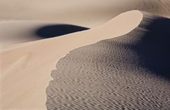 Geo Dune. Geometric curves in the Great Sand Dune National Park Stock Images