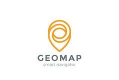 Geo-Karten-Punkt-Standort-Logo Pin City-Verzeichnis Gps stock abbildung