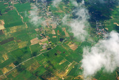 Geo Location Thailand. Local road by aerial photography in Thailand 's suburb Royalty Free Stock Image