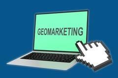 Geo-Marketing Konzept Lizenzfreie Stockfotos