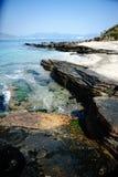 Geo-Park. Tung Ping Chau, Hong Kong, Geology Park royalty free stock photo