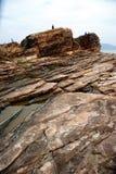 Geo-Park. Tung Ping Chau, Hong Kong, Geology Park stock photography