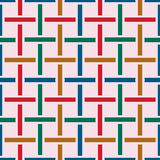 Geo seamless pattern in color Royalty Free Stock Image