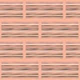 Geo Stripes Vector Pattern Hand Salmon and White royalty free illustration